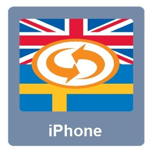 Eurotranslator iPhone Ruotsi-Englanti